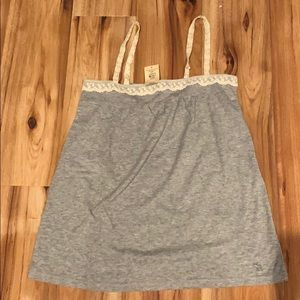 NWT Abercrombie tank style top gray size M